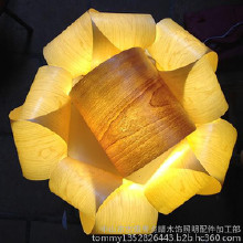 点睛木饰照明木花灯,LED吸顶灯。 CEILING LAMP SUPER DESIGN LED CEILING LAMP